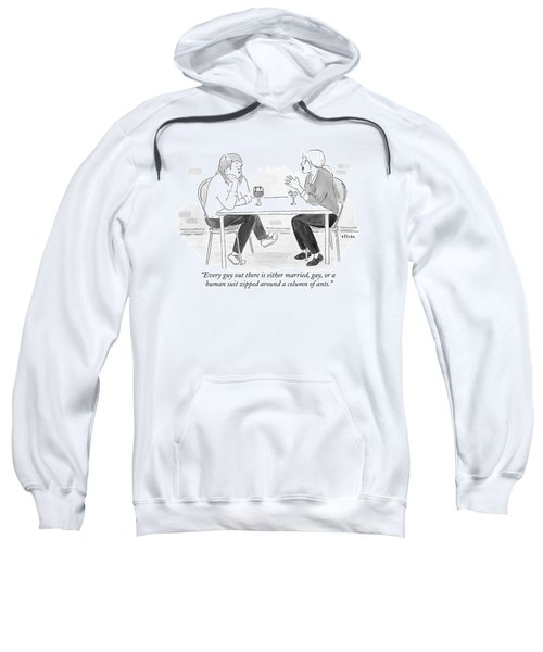Two Women With Cocktails Talk At A Bar Table Sweatshirt