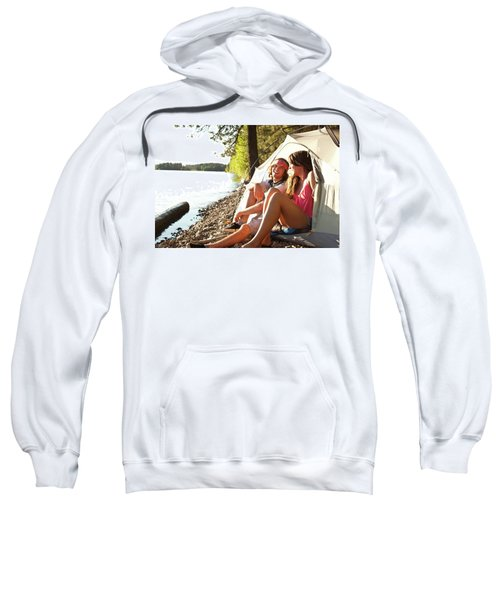Two Young Adults Laugh And Smile Sweatshirt