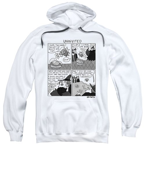 Uninvited -- A 4-panel Cartoon Of A Sleeping Sweatshirt