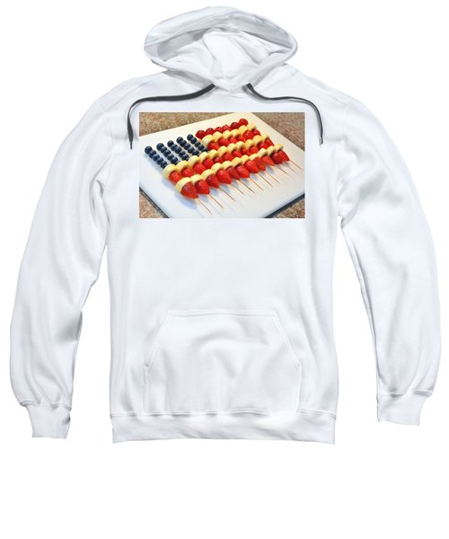 American Flag Fruit Kabobs Sweatshirt