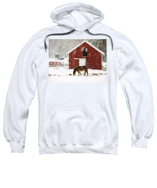 Vermont Christmas Eve Snowstorm Sweatshirt