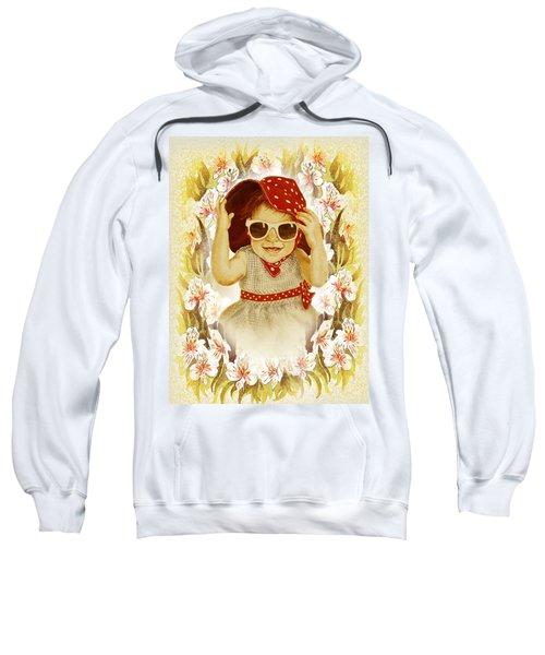 Vintage Fashion Girl Sweatshirt by Irina Sztukowski