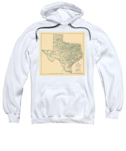 Vintage Map Of Texas - 1933 Sweatshirt
