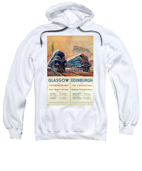 Vintage Train Travel - Glasgow And Edinburgh Sweatshirt