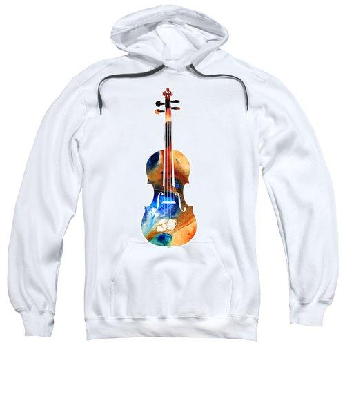 Violin Art By Sharon Cummings Sweatshirt