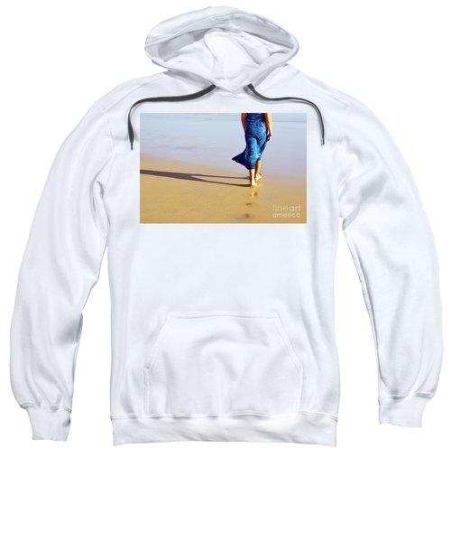 Walking On The Beach Sweatshirt