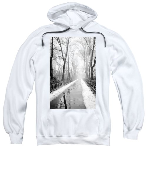 Walkway Snow And Fog Nyc Sweatshirt