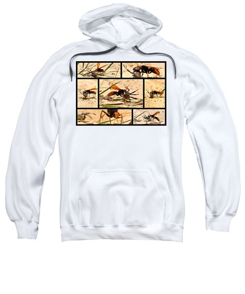 Sweatshirt featuring the photograph Wasp And His Kill by Miroslava Jurcik