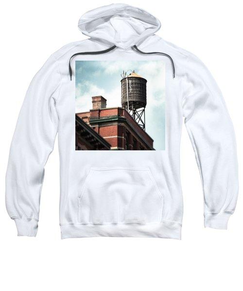 Water Tower In New York City - New York Water Tower 13 Sweatshirt