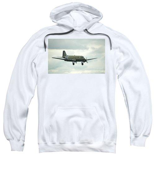 Watercolor C-47 Dakota Landing Sweatshirt