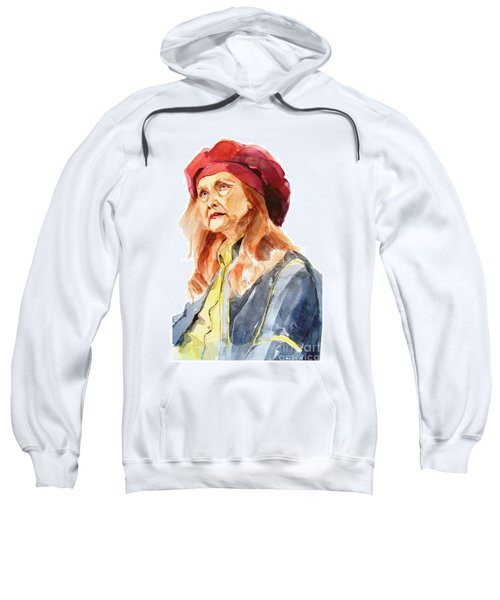 Watercolor Portrait Of An Old Lady Sweatshirt