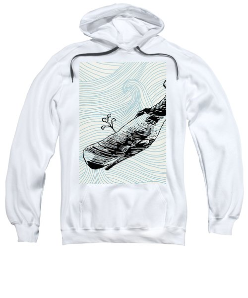 Whale On Wave Paper Sweatshirt