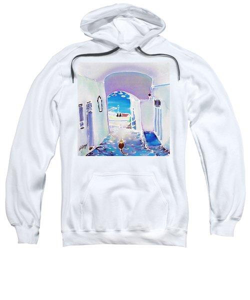 White And Blue 1 Sweatshirt