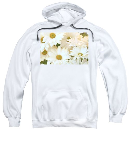 White Chrysanthemums Sweatshirt