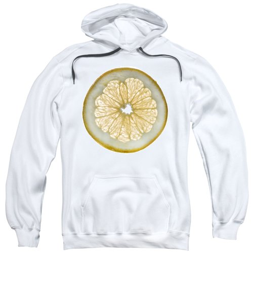 White Grapefruit Slice Sweatshirt by Steve Gadomski