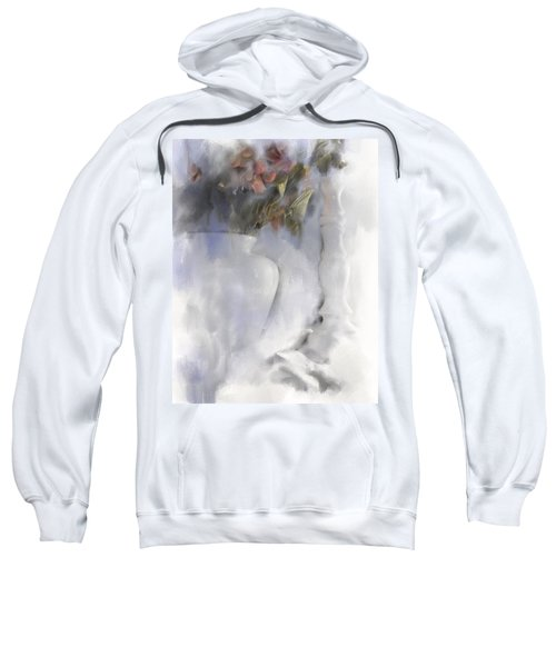 White Still Life Vase And Candlestick Sweatshirt