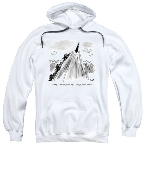 Why, I Believe You're Right.  This Is Mont Blanc Sweatshirt