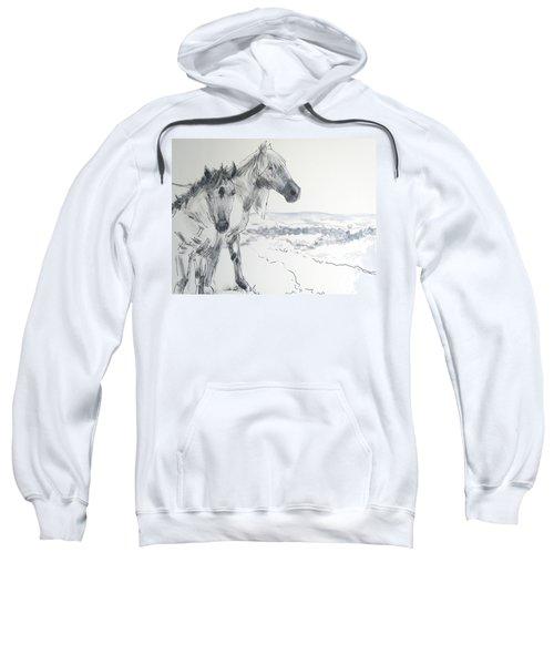 Wild Horses Drawing Sweatshirt