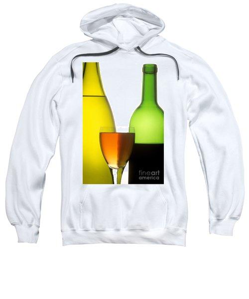 Wine. Red. White And Rose Sweatshirt