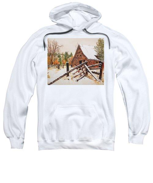 Winter - Barn - Snow In Nevada Sweatshirt