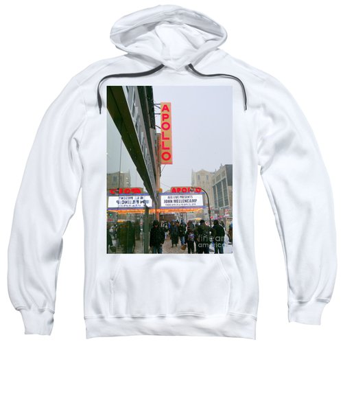 Wintry Day At The Apollo Sweatshirt by Ed Weidman