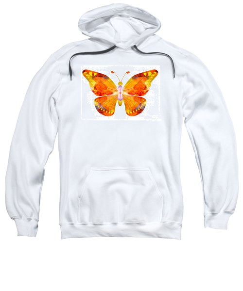 Wisdom And Flight Abstract Butterfly Art By Omaste Witkowski Sweatshirt