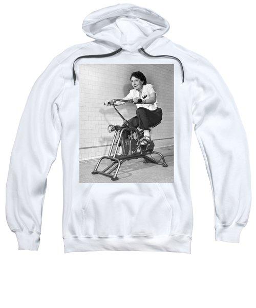 Woman On Exercycle Sweatshirt