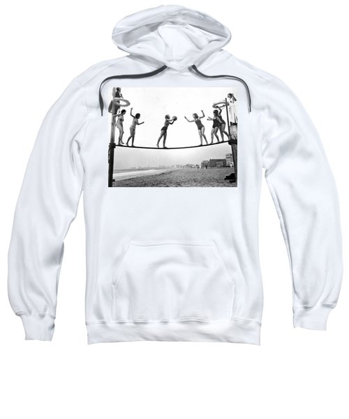 Women Play Beach Basketball Sweatshirt