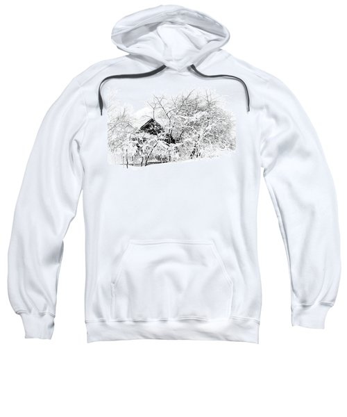 Wooden House After Heavy Snowfall. Russia Sweatshirt