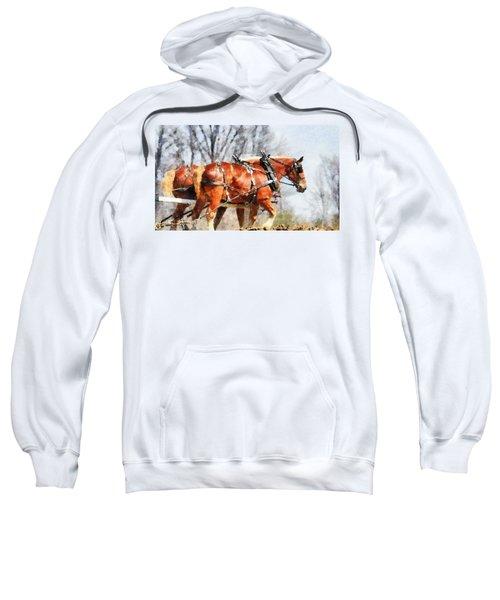Work Horses In The Field Sweatshirt