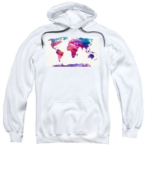 World Map Light  Sweatshirt by Mike Maher