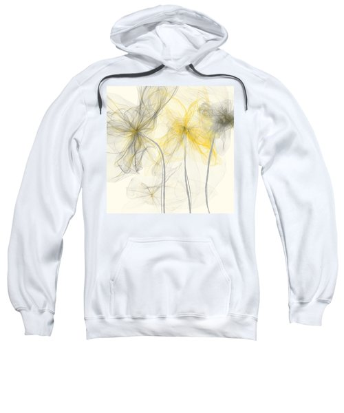Yellow And Gray Flowers Impressionist Sweatshirt