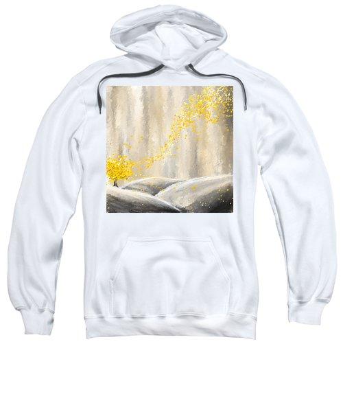 Yellow And Gray Landscape Sweatshirt