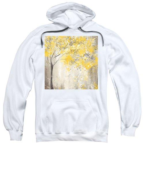 Yellow And Gray Tree Sweatshirt