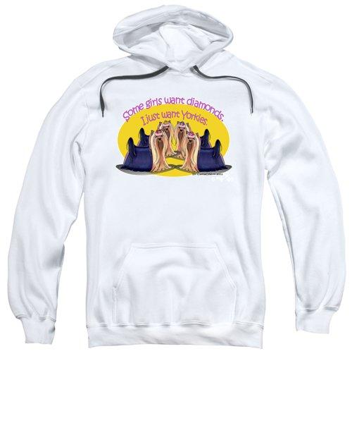 Yorkies Are A Girls Best Friends Sweatshirt