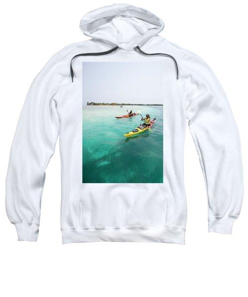 Young Couple Sea Kayaking Sweatshirt