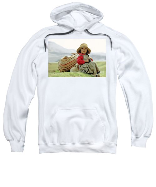 Young Girl In Peru Sweatshirt