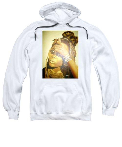 Young Himba Girl - Original Artwork Sweatshirt