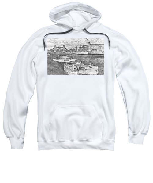 River Thames Art Sweatshirt