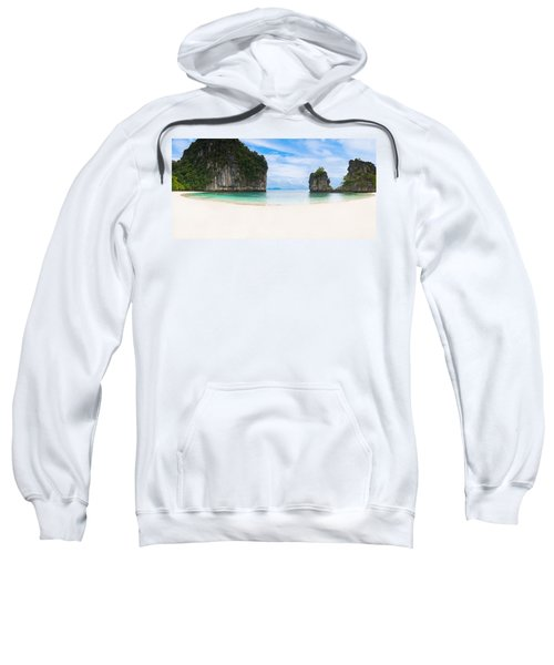White Sandy Beach In Thailand Sweatshirt