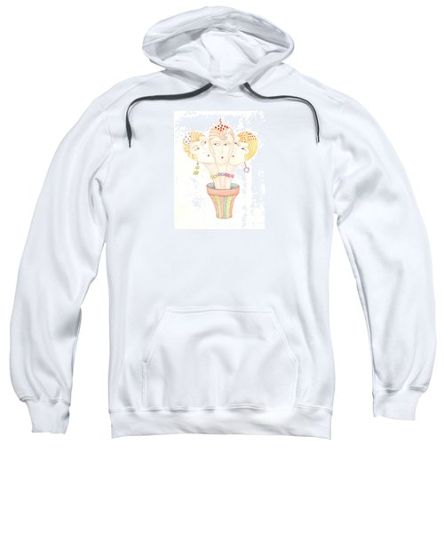 Sweatshirt featuring the painting Flower Pot Ladies by Nareeta Martin