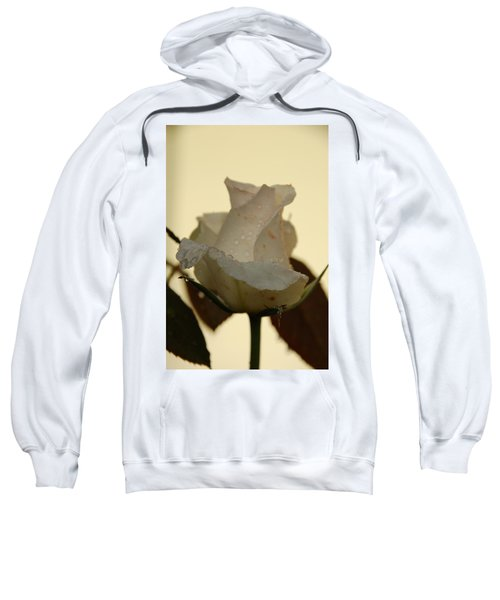 A Single White Rose Sweatshirt