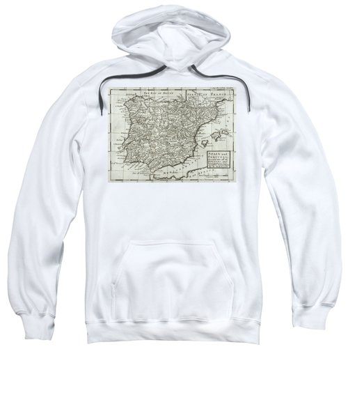 Antique Map Of Spain And Portugal Sweatshirt