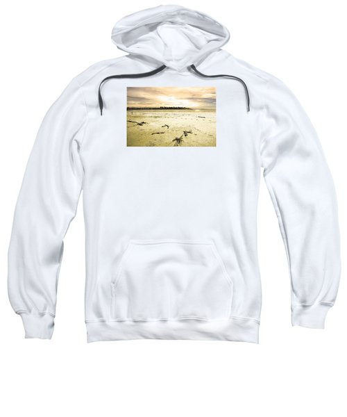 Sweatshirt featuring the photograph At Caroline Bay Timaru New Zealand by Nareeta Martin
