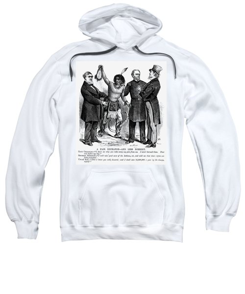 Cartoon: Native Americans, 1876 Sweatshirt
