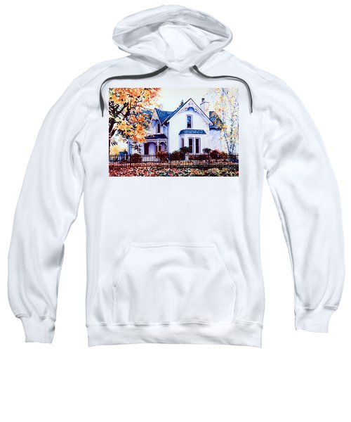 Sweatshirt featuring the painting Family Home Portrait by Hanne Lore Koehler