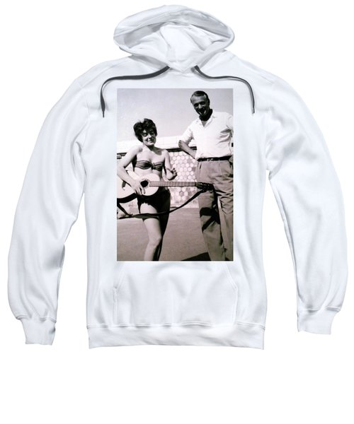 Mama Chris And Gary Cooper In Monte Carlo 1958 Sweatshirt