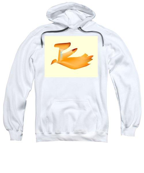 Orange Jetpack Penguin Sweatshirt