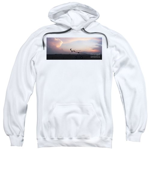 Pivot Irrigation And Sunset Sweatshirt