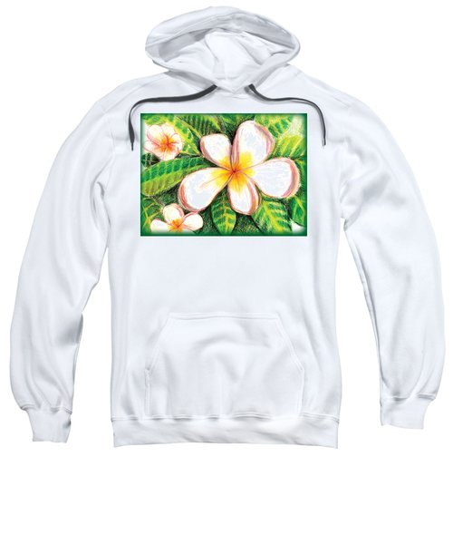 Plumeria With Foliage Sweatshirt